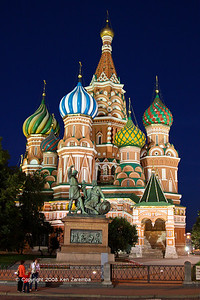 St. Basil's Cathedral & Monument to Minin and Pozharsky in Red Square, Moscow