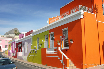 The colorful houses of Cape Malay Bo-Kaap area of Cape Town