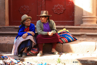 After a long day at the farmers market, Urubamba, Peru